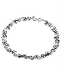 Aeravida | Gray Mythical Beauty Prancing Unicorn .925 Silver Bracelet | Lyst