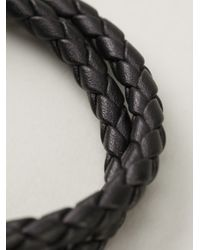 Tod's - Black Double Rope Bracelet for Men - Lyst