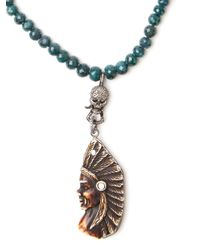 CB Bronfman - Green Indian Beaded Necklace - Lyst