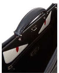 Fendi - Blue Selleria Peekaboo Leather Tote for Men - Lyst