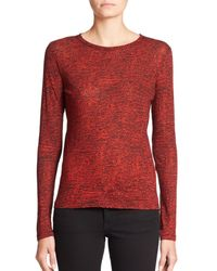 Proenza Schouler - Red Long-sleeve Printed Jersey Tissue Tee - Lyst