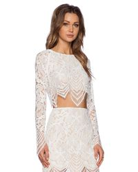 For Love & Lemons | White Guava Crop Top | Lyst