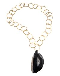 Amanda Wakeley | Metallic Malawi Black Agate Necklace | Lyst