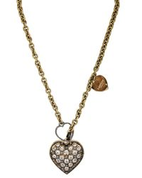 Lanvin | Gold Mira Heart Necklace | Lyst