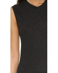Lanston | Black Fitted Muscle Tee - Heather | Lyst