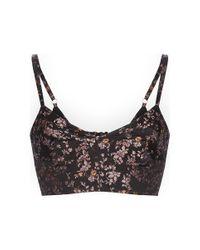 Etro | Black Jacquard Floral Bra Top | Lyst