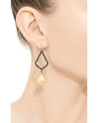 Arman Sarkisyan - Yellow Black Diamond Gold Drop Earrings - Lyst