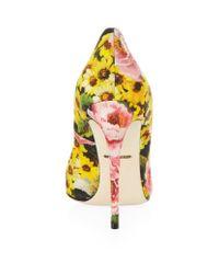 Dolce & Gabbana | Green Mooncake Embellished Peep Toe Pump | Lyst