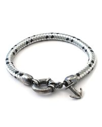 Anchor & Crew | Gray Grey Dash Salcombe Rope Bracelet for Men | Lyst