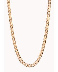 Forever 21 Metallic Posh Curb-Chain Necklace