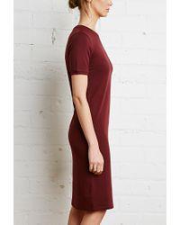Forever 21 | Purple Midi T-shirt Dress | Lyst