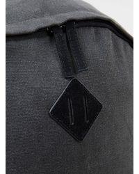 TOPMAN - Gray Charcoal Plain Backpack for Men - Lyst
