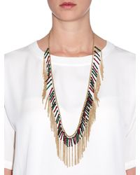 Rosantica By Michela Panero | Metallic Nepal Quartz Fringe Necklace | Lyst