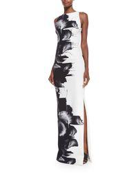Carolina Herrera - White Sleeveless Techno-jersey Column Gown - Lyst