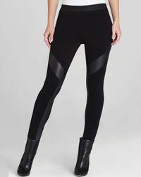 BCBGMAXAZRIA | Black Leggings Luca Faux Leather Contrast | Lyst