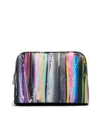 ASOS | Multicolor Clutch Bag in Blurred Lines Print | Lyst
