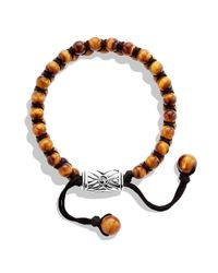 David Yurman - Orange Spiritual Beads Two-Row Bracelet With Tiger'S Eye for Men - Lyst