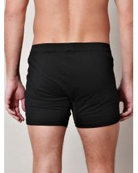 Sunspel - Black Double-Button Boxer Trunks for Men - Lyst