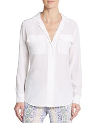 Equipment - White Blaise Silk Blouse - Lyst