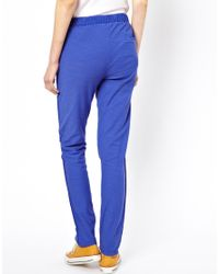 American Vintage | Blue Cotton Trousers in Reverse Flamed | Lyst