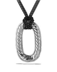 David Yurman - Metallic Midnight Mélange Pendant With Diamonds On Chain - Lyst