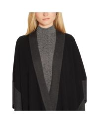 Ralph Lauren - Black Color-blocked Knit Poncho - Lyst