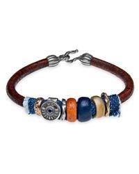 Platadepalo - Multicolor Classic Denim Leather Bracelet With Resin - Lyst