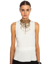 Erickson Beamon - Metallic Mesh Embellished Necklace - Lyst