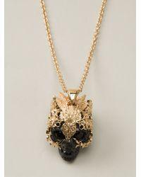 Alexander McQueen - Black Skull Pendant Necklace - Lyst