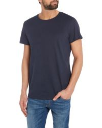 Jack & Jones - Blue Tailored Crew Neck T-Shirt for Men - Lyst