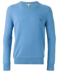 Burberry Brit - Blue Crew Neck Sweater for Men - Lyst
