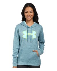 Under Armour   Blue Ua Storm Armour® Fleece Big Logo Twist Hoodie   Lyst