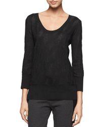 Calvin Klein Jeans | Black Geo Jacquard Sweater | Lyst