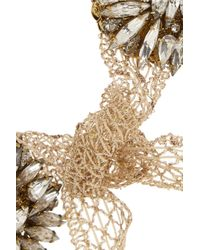 Erickson Beamon | Metallic Stratosphere Gold-plated, Swarovski Crystal And Glass Pearl Necklace | Lyst