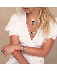 Pamela Love   Metallic Halo Cuff In Antique Silver   Lyst