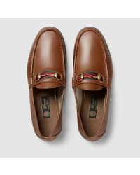 3ef2f006e Gucci Men's Horsebit Leather Loafer in Brown for Men - Lyst