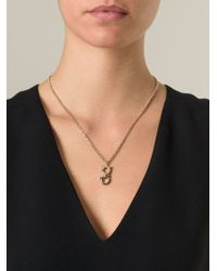 Ferragamo - Metallic Gancini Pendant Necklace - Lyst
