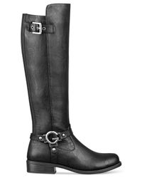 G by Guess | Black Hellia Riding Boots | Lyst