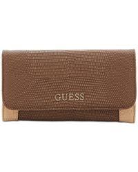 Guess | Brown Huntley Slim Clutch Wallet | Lyst