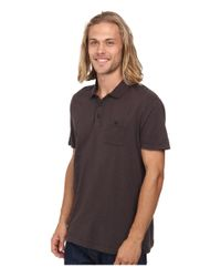 Quiksilver | Gray Voices Polo Knit Top for Men | Lyst