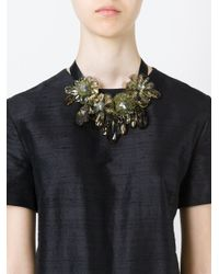 P.A.R.O.S.H. - Green Flower Ribbon Necklace - Lyst