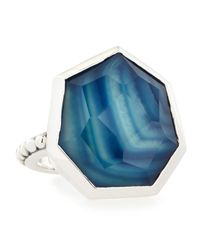 Stephen Dweck - Triplet Rock Crystal/blue Agate Ring - Lyst
