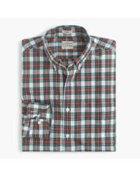 J.Crew | White Secret Wash Shirt In Royal Tartan for Men | Lyst