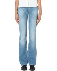 Closed | Blue Mia Flared High-rise Jeans | Lyst
