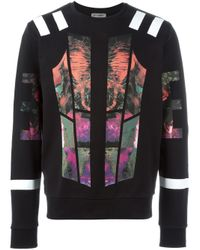 Les Hommes - Multicolor Fleece With Multicoloured Print for Men - Lyst