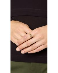 Elizabeth and James - Metallic Catalan Ring Yellow Gold - Lyst