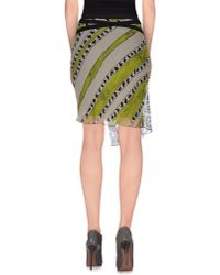 Pianurastudio - Gray Knee Length Skirt - Lyst