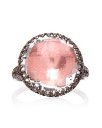 Larkspur & Hawk - Pink Olivia Button Ring - Lyst