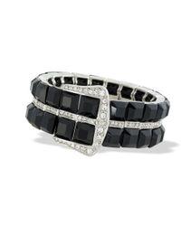 Kenneth Jay Lane   Black Buckle Bracelet   Lyst