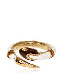 Roberto Cavalli | Metallic Swarovski Gold Plated Bracelet | Lyst